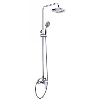 """""""Смарт-Инлайн"""" душевая система со смесителем душ, комплект: штанга, 3-функц. душ. лейка, лейка верхн"""
