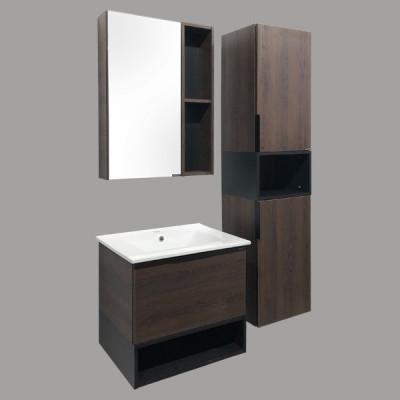 """COMFORTY. Зеркало-шкаф """"Франкфурт-60"""" дуб шоколадно-коричневый"""