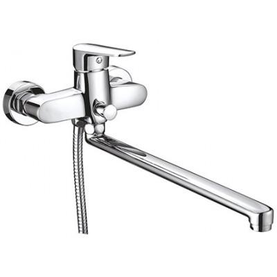 """""""Смарт-Инлайн"""" Смеситель для ванны, излив 350 мм,с аксессуарами, хром"""