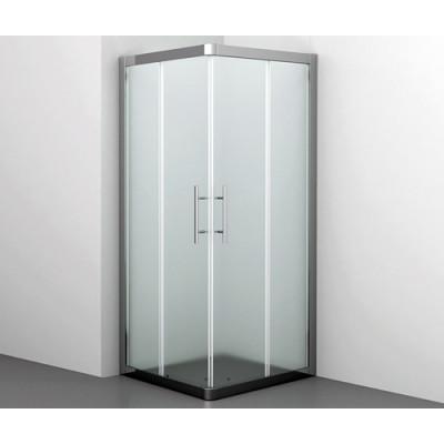 Amper Душевой уголок, квадрат, с раздвижными дверьми, матовое стекло