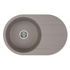 """Амира"" мойка кухонная 780*500*211мм, серый шелк"
