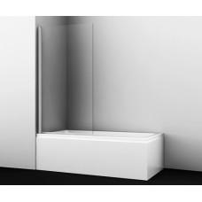 Стеклянная шторка на ванну Berkel 48P01-80 распашная, одностворчатая, 800*1400 мм