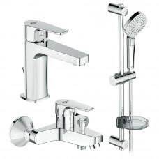 Esla сет 3 в 1: смеситель для умывальника, смеситель для ванны, душевой гарнитур