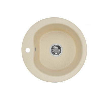 """""""Мида"""" мойка кухонная круглая 510*211мм,шампань"""