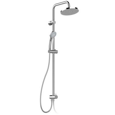 """""""Идеал Рейн Эко"""" система душевая для настенных смесителей, верхний душ 200мм, 3-функц.лейка 80мм, шланг 1750мм и короткий шланг IdealFlex для подключения к смесителю, хром"""