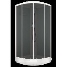 Душевая кабина Domani-Spa Delight (100x100 см) белые стенки, тонированные стекла.