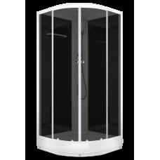 Душевая кабина Domani-Spa Delight (100x100 см) черные стенки, тонированные стекла.