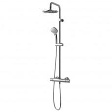 """""""Идеал Дуо"""" душ.система(лейка 3-функц. d100мм, верхн.душ d200мм с душ.трубой, шланг 1750мм) с термостатом Сератерм 100"""
