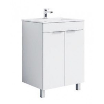 BRIG 60 комплект мебели на ножках (тумба + раковина Quadro 60, Россия) белый
