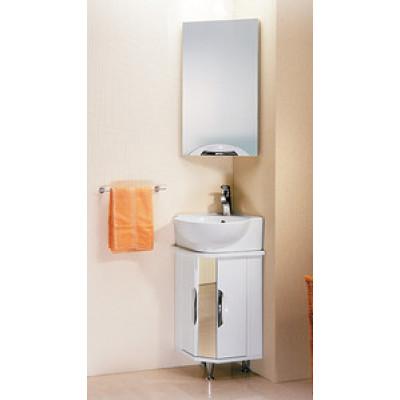 DELTA зеркало-шкаф угловой с навесным светильником