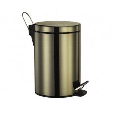 """Wasser Kraft Ведро для мусора, 5 л, с педалью, """"светлая бронза"""""""