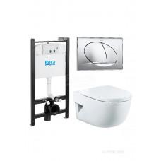 Meridian Pack 893104110 подвесной унитаз + инсталляция + кнопка + сиденье