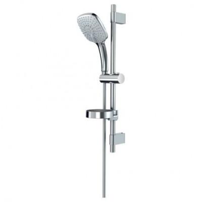 """""""Идеал Рейн Куб"""" XL3 душевой набор, лейка 3-функциональная  диаметр 130мм, штанга 600мм, шланг 1750, хром"""