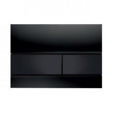 TECESquare, панель смыва, стекло черное, клавиши черные