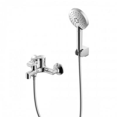 """""""Минима"""" Смеситель для ванны, короткий излив, керамический переключатель, душевой набор"""