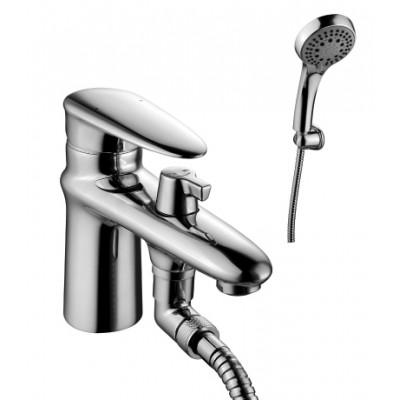 """""""Статус"""" Смеситель на борт ванны, с коротким изливом, с аксессуарами, хром"""