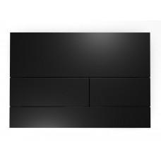 TECEsquare II. Панель смыва, металл, черная матовая
