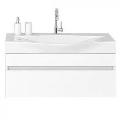 BERGAMO 80 комплект мебели подвесной (тумба + раковина Bergamo 800, Россия) белый