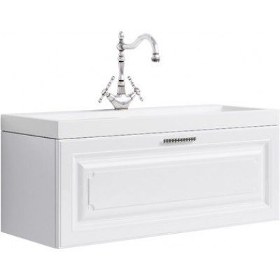 EMPIRE 100 комплект мебели подвесной (тумба + раковина  Infinity 1000, Россия) белый