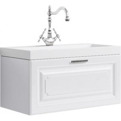 EMPIRE 80 комплект мебели подвесной (тумба + раковина  Infinity 800, Россия) белый