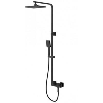 Душевая система SmartSant Велнес со смесителем для ванны/душ, черная