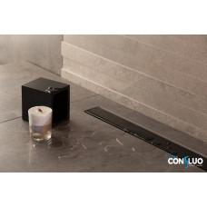 Душевой лоток Pestan Confluo Frameless Line 300 Black Glass