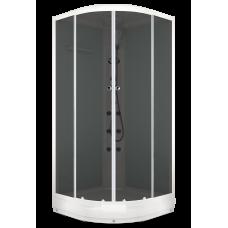 Душевая кабина Domani-Spa Delight (100х100 см) с блоком управления и гидромассажем. белые стенки, тонированные стекла