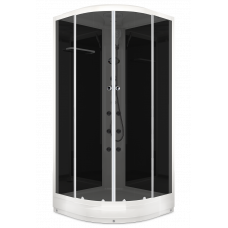 Душевая кабина Domani-Spa Delight (100х100 см) с блоком управления и гидромассажем. черные стенки, тонированная стекла