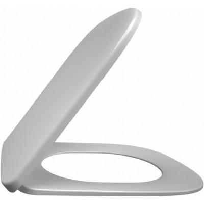 cиденье для унитаза VOX тонкое с механизмом плавное опускание (белый)