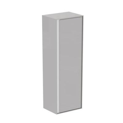 Connect Air шкафчик для подвесного монтажа, 1 дверца, система плавног закрытия, реверсивная версия, светло-серый глянцевый и белый матовый